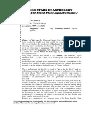 The-290-Fixed-Stars pdf | Stars | Sky Regions