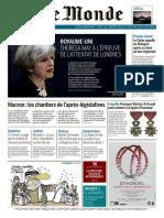 Le Monde Du Mercredi 7 Juin 2017