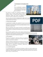 Factores de Contaminación