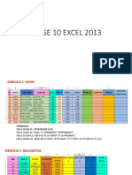 Clase 10 Excel 2013