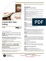 Free Pattern - Colorful Bird Table Setting LC2194