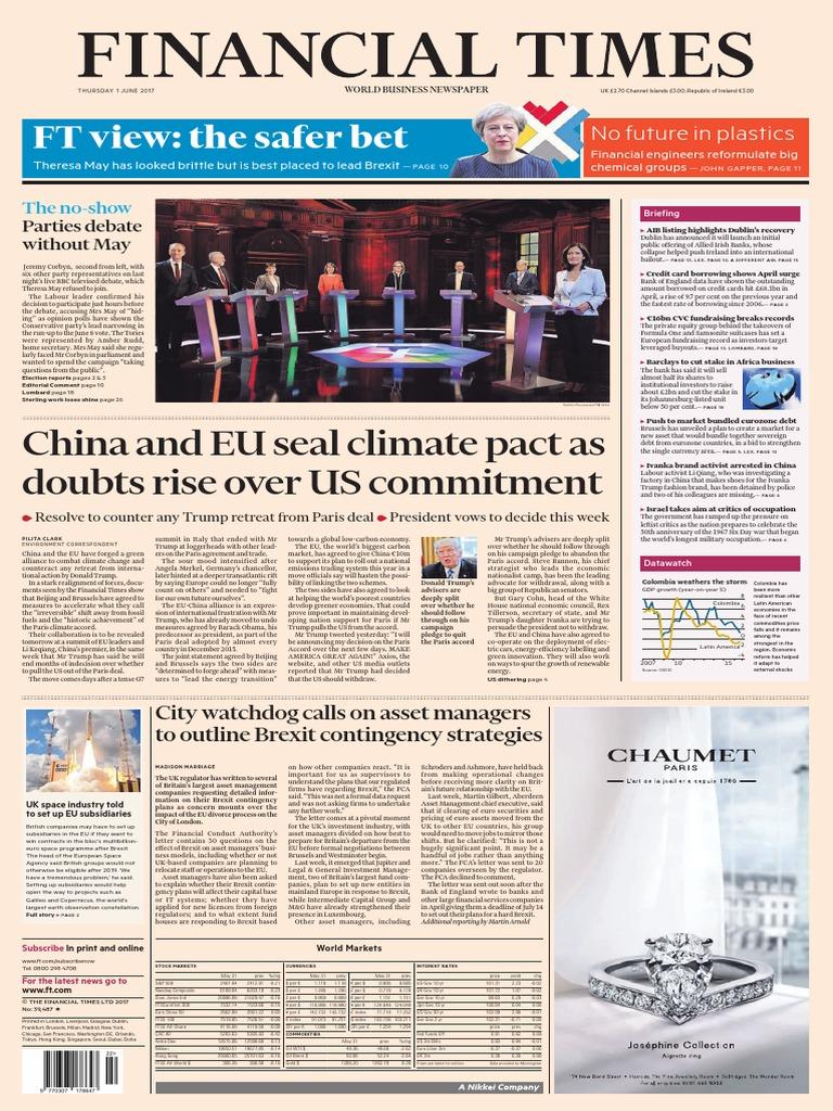 Financial Times UK 1 June 2017  9be9b7cb7
