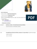 Curriculum Vitae Nikole Mendoza Rivero 1