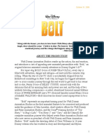 Bolt Full Production Notes