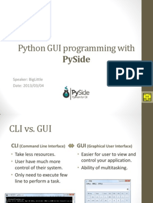 Python Gui Programming With: Pyside
