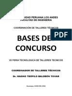 Bases de La Feria Tecnologica de Talleres Tecnicos