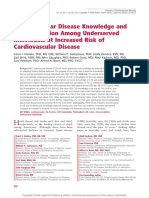 Cardiovascular Disease Knowledge and Risk Perception Among Underserved Individuals at Increased Risk of Cardiovascular Disease.