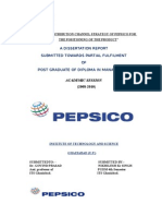 Study of Distribution Channel Strategy of the Pepsico