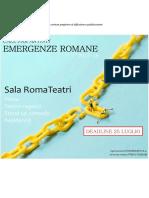 Emergenze Romane 2017