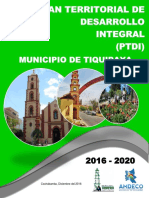 Plan Territorial de Desarrollo Integral Tiquipaya 2016 - 2020-Original