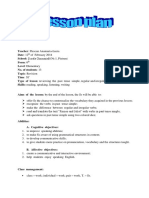 Proiect de Lectie Engl Clasa a 6 A