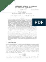 Calibração Sistemas Biometricos Forenses