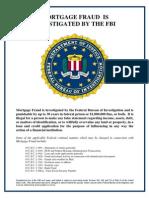 FBI mortgage fraud warning