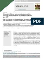 neurologia ORIGINAL Efecto del inhibidor de amida hidrolasa de ácidosgrasos en el da˜no neuronal dopaminérgico inducidopor MPTPJ.