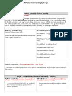 understanding by design blank template  1
