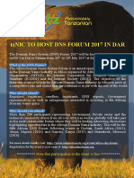 tzNIC TO HOST DNS FORUM 2017 IN DAR ES SALAAM