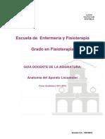 Guía Docente de Anatomía Del Aparato Locomotor