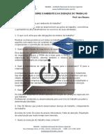 Questionário Sobre o Ambiente e as Doenças Do Trabalho