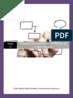 Conceptos Generales y Bases de La Planificación