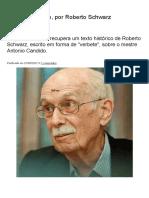 Antonio Candido, Por Roberto Schwarz – Blog Da Boitempo