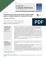 Características Clínicas de Pacientes Con PA en TI. Reporte de Casos. ACCI 2015