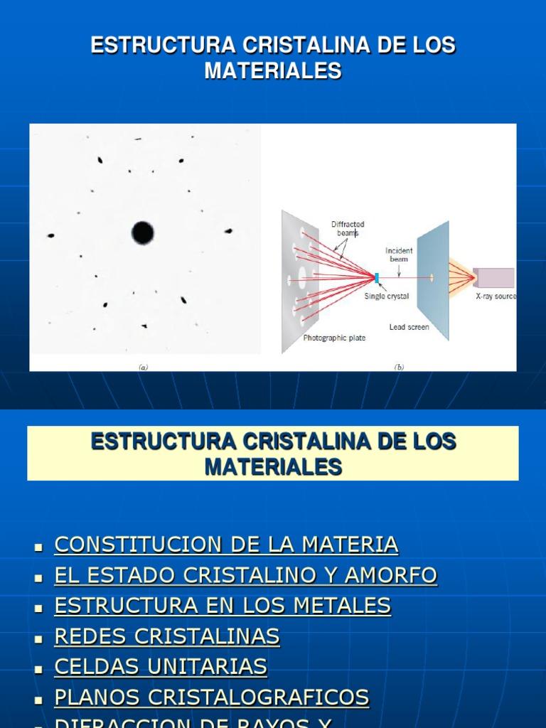 Clase 3 11 04 17i Estructura Cristalina