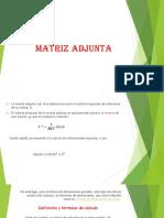 Matriz Adjunta