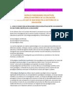 Paradigmas Educativos e Historia de La Educacion