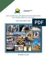 Lista Oficial Bens Inventariados OP Até 2016 - IPAC