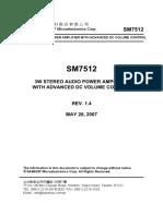 Amplificador de Audio SM7512