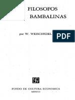 W. Weischedel - Los Filosofos Entre Bambalinas