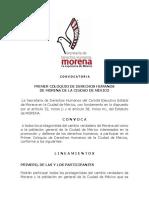 1er Coloquio de Derechos Humanos MORENA en la Ciudad de México