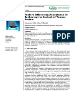 Factors Influencing Acceptance of Technology in Context of Yemen