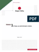 Módulo 1 - O Siape, Sua Administração e Tabelas