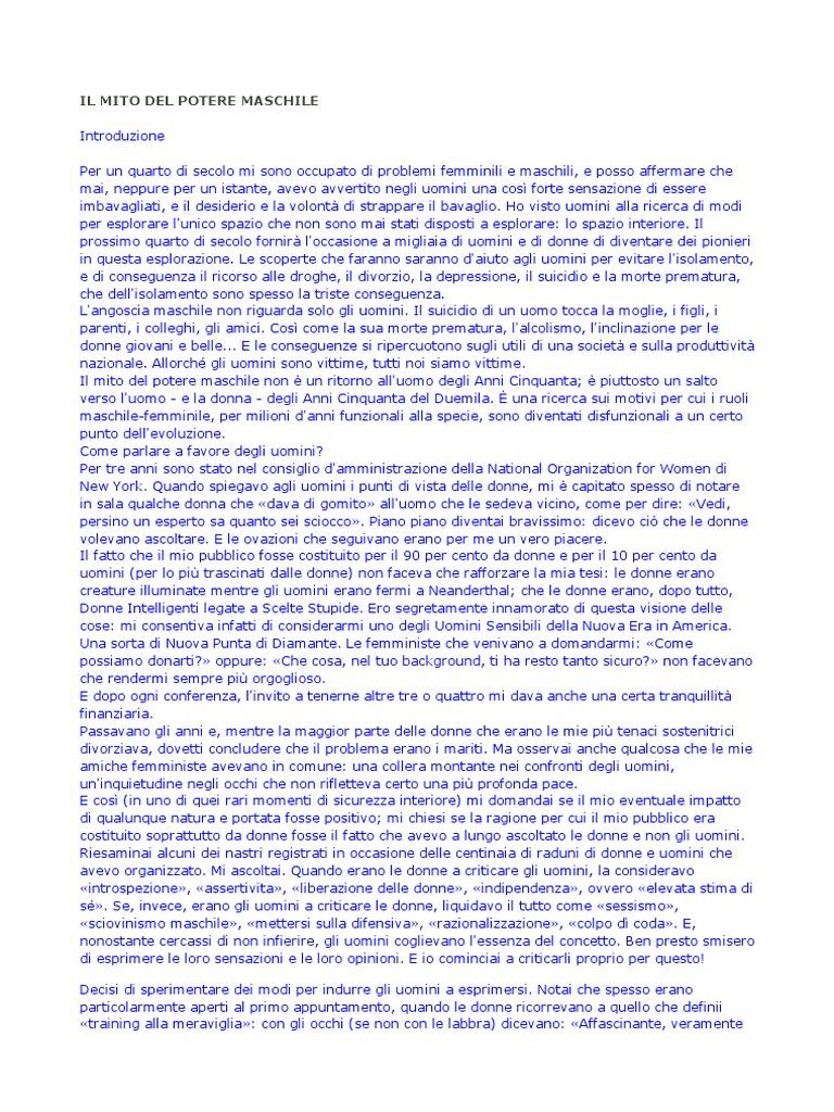 f7f39229960e Warren Farrell - Il Mito Del Potere Maschile   Feminism   Ethnicity, Race &  Gender