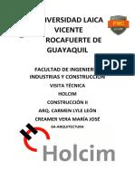 Visita Tecnica Holcim
