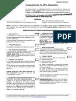 Checklist for 25 Application