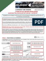 Jeep YJ MetalCloak Front Tube Fender Installation Instructions