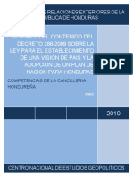 Resumen Del Vision de Pais y Plan de Nacion, Agosto 2010