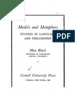 Max Black Models and Metaphors Studies in Language and Philosophy