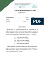 Protocolo de La Lista de Chequeo de Habilidades Sociales
