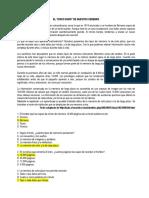 Examen Español 7 Grado