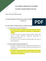 151214 Examen de Derecho Internacional Público