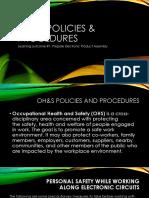 Oh&s Policies & Procedures