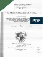 Cranny Moral Oblgations of Voting
