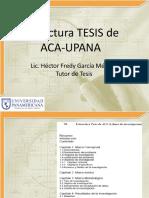 Estructura de Tesis Por Lic. FREDY GARCIA