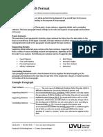 Basic Paragraph Format