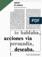 Fernández, Sergio. El Soneto Sin El Soneto, A Propósito de SJIC