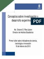 conceptos sobre la investigacion  y desarrollo experimental