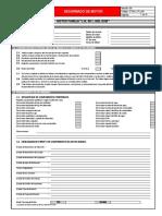 Formato de Desarmado Motor l10, m11, Ism, Qsm